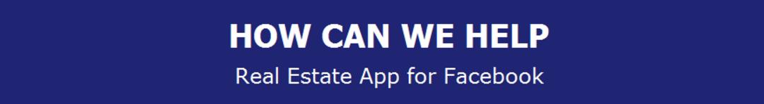 Real estate facebook app banner