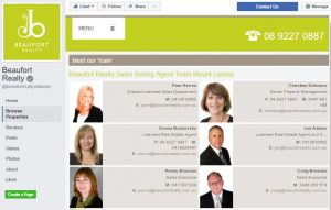 Real estate agency team Facebook App